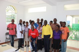 The New Hope staff assembled to say 'thanks' to Espwa